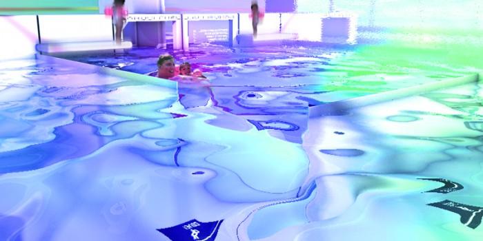 NIchtschwimmerbereich vor dem Pixelspiegel