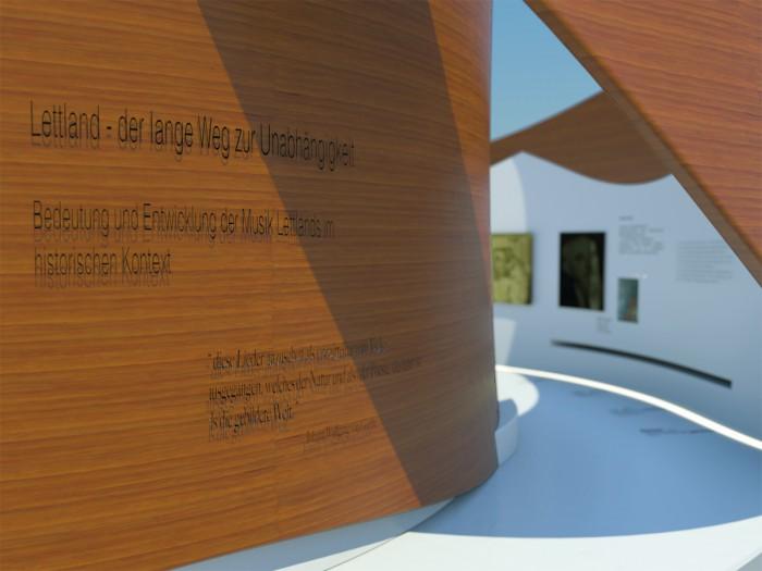 Pavillon Lettland_Eingangsbereich