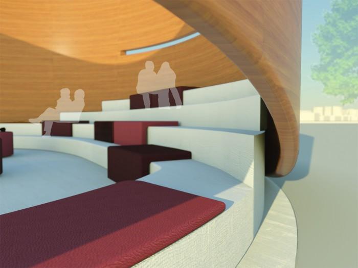 Pavillon Lettland_Tribühnenansicht